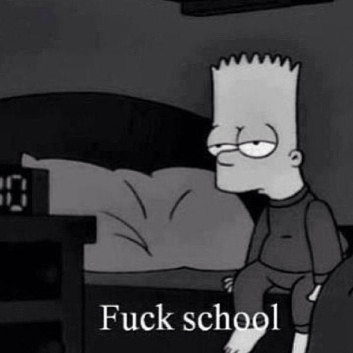 Really don't want to go school tomorrow.?